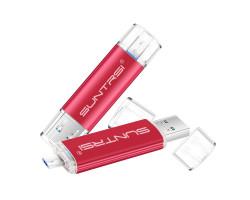 Флешка для телефона MicroUSB - USB 3.0 Suntrsi 64 GB