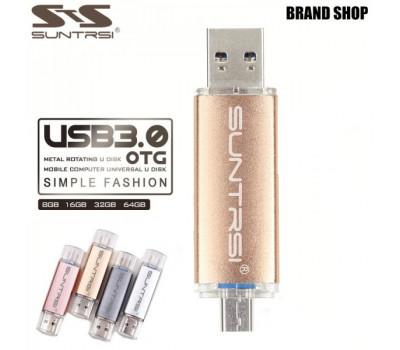 Флешка для телефона/планшета MicroUSB - USB 3.0 Suntrsi 64 GB
