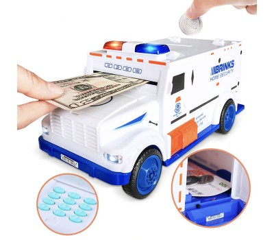 Электронная машина-сейф копилка-игрушка грузовик