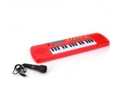 Синтезатор с микрофоном (10 песен, 5 караоке-мелодий)