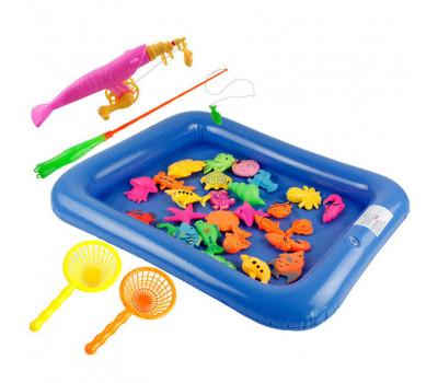 Детская магнитная рыбалка с удочками и бассейном