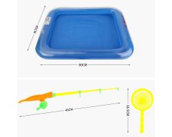 Магнитная рыбалка с надувным бассейном