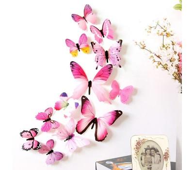 3D бабочки для декорирования помещений