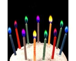 Свечи для торта с цветным пламенем (6 шт.)