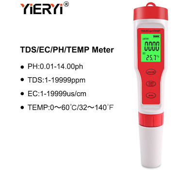 Ручка-тестер 4-в-1: измерение PH / TDS / EC / TEMP воды