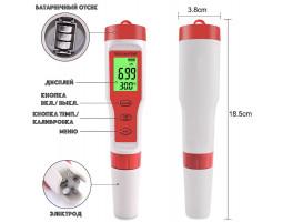 Ручка-тестер 4-в-1 с измерением PH / TDS / EC / TEMP воды