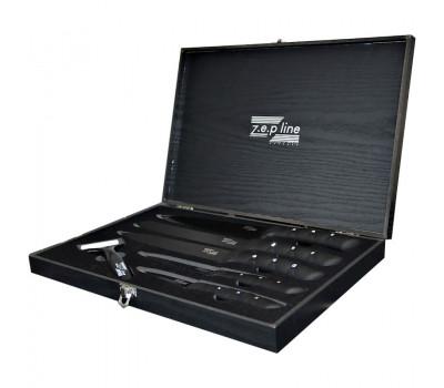 Подарочный набор ножей Z.E.P line (6 предметов) в деревянном футляре