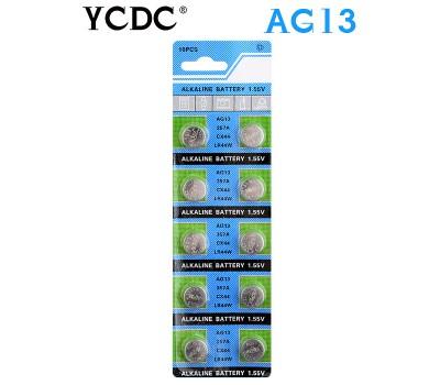 Купить батарейки AG13 / SR1154 / LR44 / A76 / 357A (1.55V) YCDC