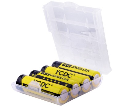 Перезаряжаемые AA аккумуляторные батареи YCDC Ni-MH 2000 мАч (4 шт.)