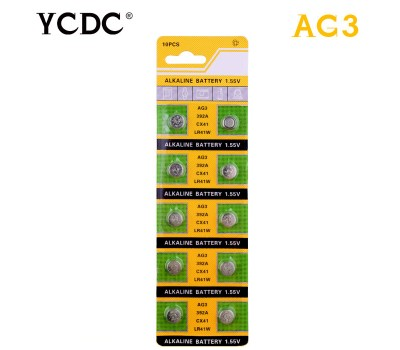 Батарейка AG3, 92, 384, 392, 392A, CX41, G3, LR41, L736, LR736, SR41, SR41SW, SR41W, V3GA