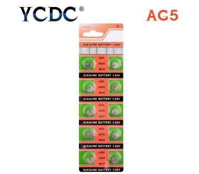 Батарейка AG5 (D309, D393, G5, G5A, L754, LR48, LR754, RW28, SR48, SR754...)