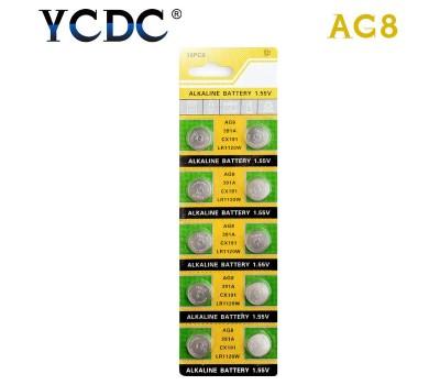 Батарейка AG8 / 391A / CX191 / LR1120W / LR55