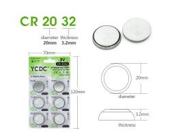 Литиевая батарейка CR2032 (3V) YCDC