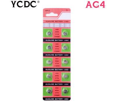 Батарейки AG4 / LR66 / 377A / LR626 (1.55V)