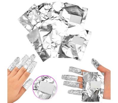 Алюминиевая фольга для обертывания ногтей (100 шт.)