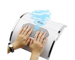 2-в-1 лампа для маникюра ногтей с пылесосом (80 Вт)