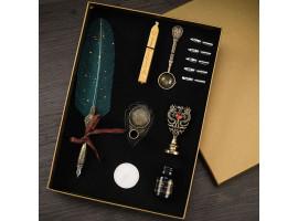 Подарочный набор с перьевой ручкой, чернилами и печатью
