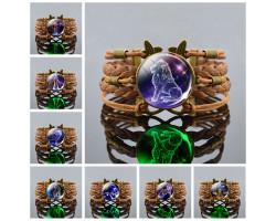 Светящийся плетеный браслет с созвездием знака зодиака