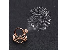 Кольцо с проекцией «Я люблю тебя» на 100 языках