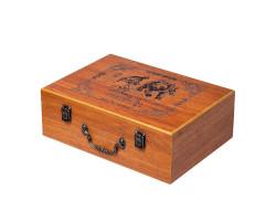 Большой подарочный набор для пикника в деревянном кейсе