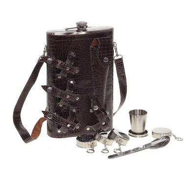Туристический набор в сумке-чехле с большой флягой