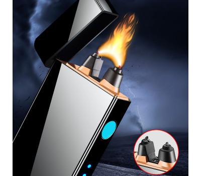 Электронная металлическая зажигалка с супер мощной плазменной дугой