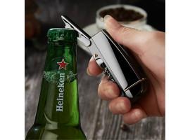 Туристическая зажигалка с раскладным ножом