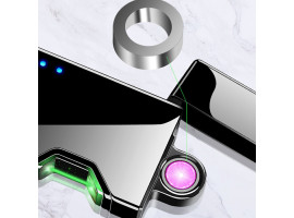 Лазерная USB зажигалка с вращающейся электродугой