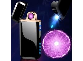 Зажигалка с крутящимся кольцом плазмы и фонариком
