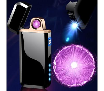 Зажигалка KJ807 с крутящимся кольцом плазмы и фонариком