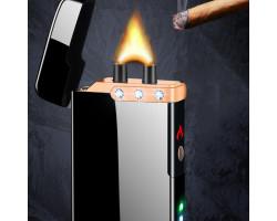 Зажигалка с мощной широкой электродугой и кристаллами