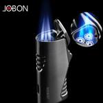 Сигарная турбо зажигалка JOBON ZB-581DHJ с тройным пламенем