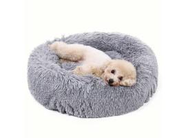 Мягкая плюшевая кровать-лежак для собак и кошек до 20 кг. (80 см.)