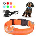 Ошейник для собак светодиодный (USB) (28-40 см.)