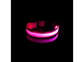 Ошейник с подсветкой перезаряжаемый (40-48 см.)