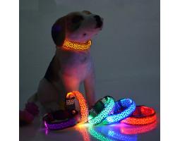 Светящийся ошейник для собак (XS 28-38 см.)
