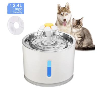 Поилка с фонтаном и фильтром для кошек и небольших собак (2,4 л.)