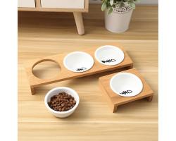 Тройная миска для кошек и маленьких собак