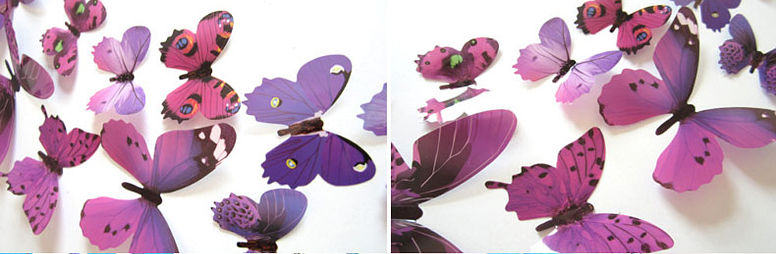 Бабочки для декора на стену