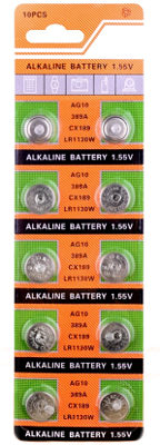 Батарейки AG10 LR54 LR1130 L1131 389 189
