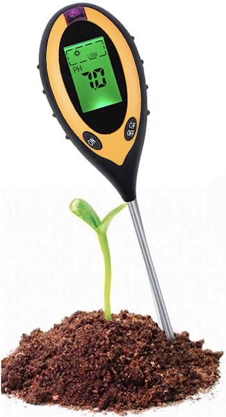 PH метр 4-в-1 для почвы