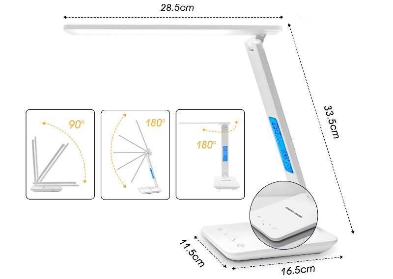 Настольная лампа LAOPAO с беспроводной зарядкой