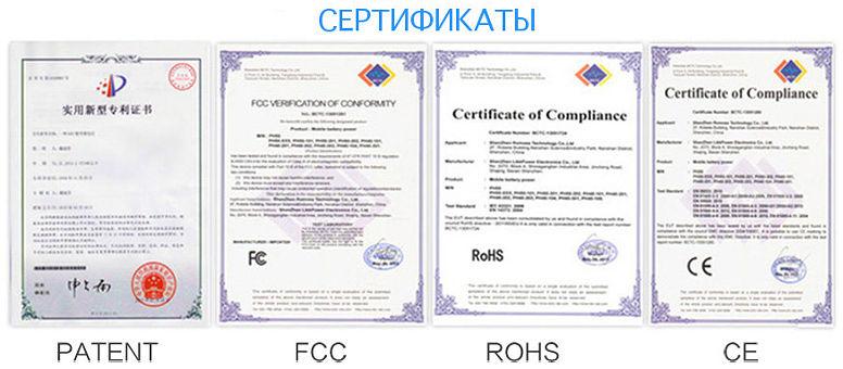 Сертификаты Sunuv