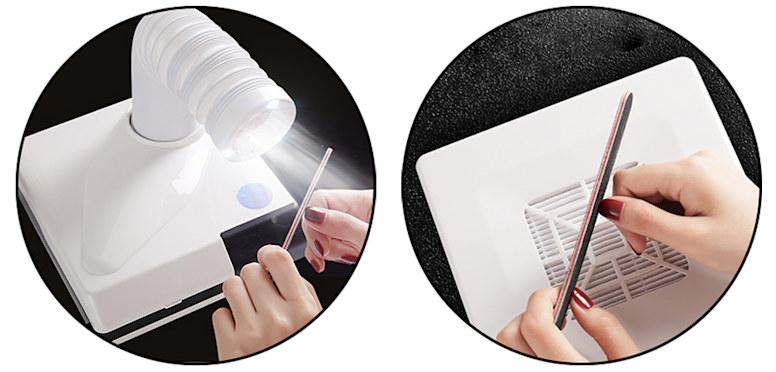 Настольный пылесос для маникюра Dust Collector