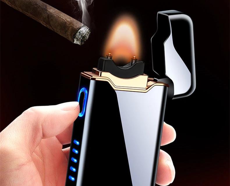Металлическая зажигалка с большой электродугой