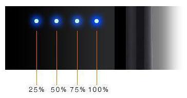 Индикатор уровня заряда на зажигалке