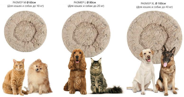 Лежанка с бортиками для собак