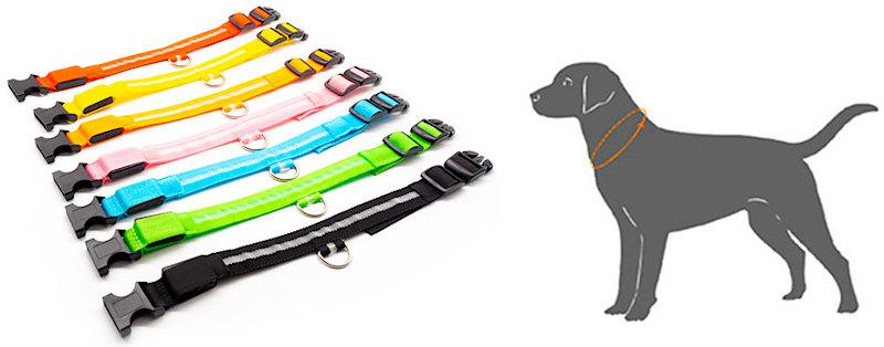 Ошейник для собак светодиодный (USB зарядка)
